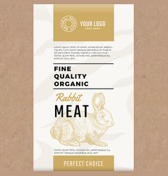 fine quality organic rabbit abstract meat vector image