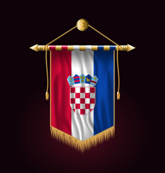 Flag of croatia festive vertical banner wall vector