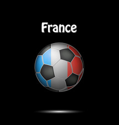 Flag of france in the form of a soccer ball vector