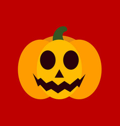 Flat icon stylish background halloween pumpkin vector