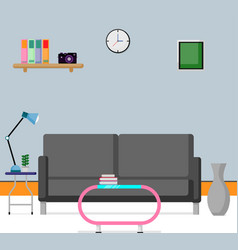 flat scene design inteior vector image