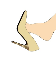 Foot and High heels vector image