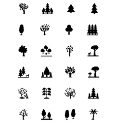 Forest Solid Icons 2 vector image