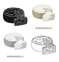 Gorgonzoladifferent kinds of cheese single icon vector