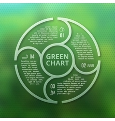 Green forest eco infographic on unfocused blurred vector