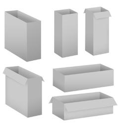 Grey box set vector