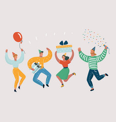 happy people celebrate an important event vector image