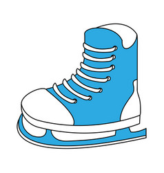 ice skate equipment vector image