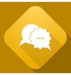 icon of Speech Bubble with a long shadow vector image