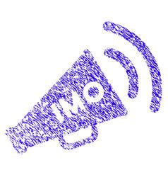 Imo megaphone alert icon grunge watermark vector