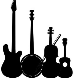 Instruments Black vector image