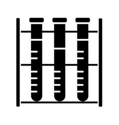Lab analysis glyph icon vector