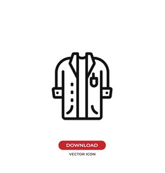 Lab coat icon vector