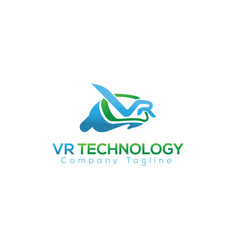 logo icon of virtual reality vector image