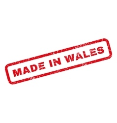 Made In Wales Rubber Stamp vector