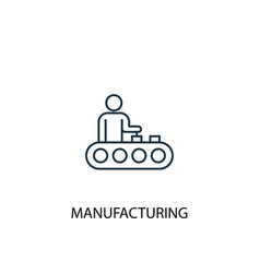 manufacturing concept line icon simple element vector image
