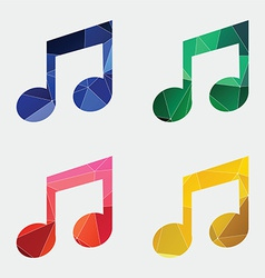 music icon Abstract Triangle vector image