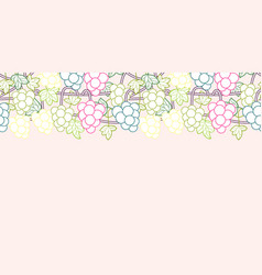 Outline fashionable female accessories seamless vector