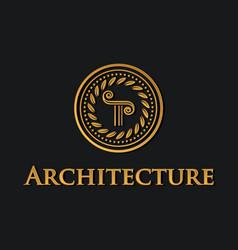 Pillar symbol of architecture vector
