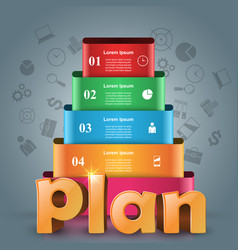 plan 3d business infographics vector image