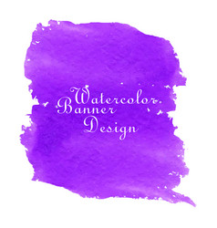 Purple watercolor banner design vector