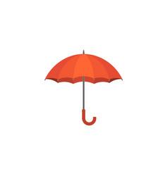 red umbrella icon flat design vector image