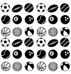 seamless ball pattern vector image