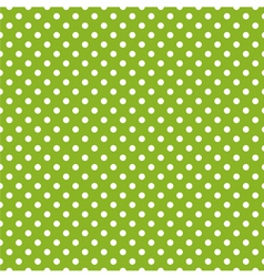 Seamless spring green pattern with white polka dot vector