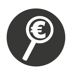 search money euro isolated icon vector image