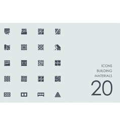 Set of building materials icons vector