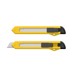 snap-off blade stationery office supply knife vector image