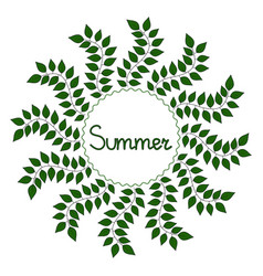 Summer decorative frame vector