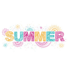 summer lettering vector image