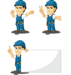 Technician or Repairman Mascot 7 vector image