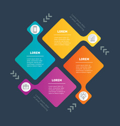 template infographic with 4 parts or processes vector image