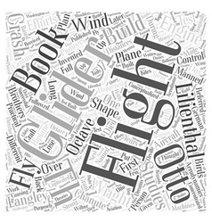 th And th Century Flight Efforts Word Cloud vector image