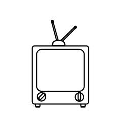 Tv television vintage retro icon graphic vector