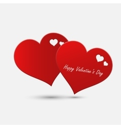 Valentine day abstract heart vector image