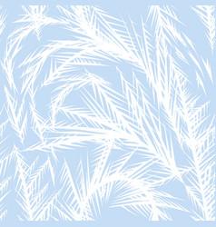 winter frozen window seamless pattern vector image