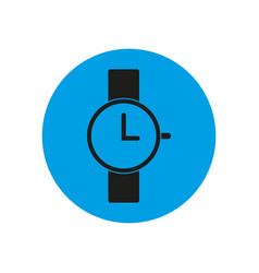 wrist watch icon on blue circle vector image