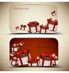 Collection of discount cards with gifts background vector image vector image