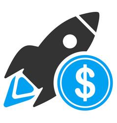 dollar rocket flat icon vector image vector image