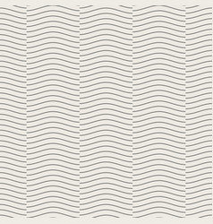 seamless geometric pattern wave line overlap on vector image vector image