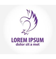 Bird abstract logo design template vector image vector image