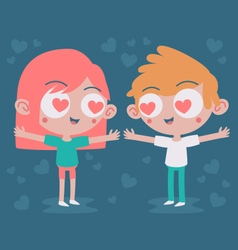 Cute Couple Madly in Love vector image vector image