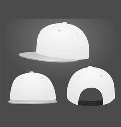 white baseball caps vector image vector image