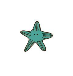 colorful starfish icon stock vector image