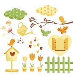 garden illustrations vector image