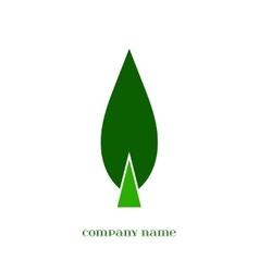 Green Leaf symbol over white vector image