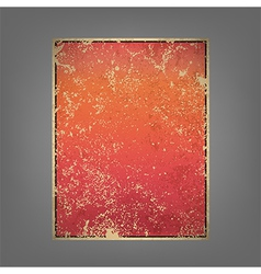 report pink and red sun rise vintage background vector image vector image